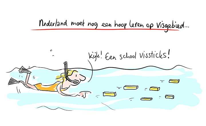 Live cartoonist - Nederlands visbureau