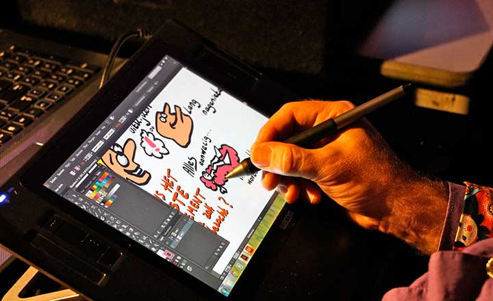 live cartoonist